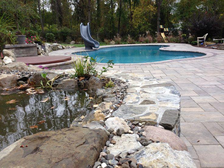 pool patio in unilock beacon hill sierra. custom patio design by ... - Unilock Patio Designs