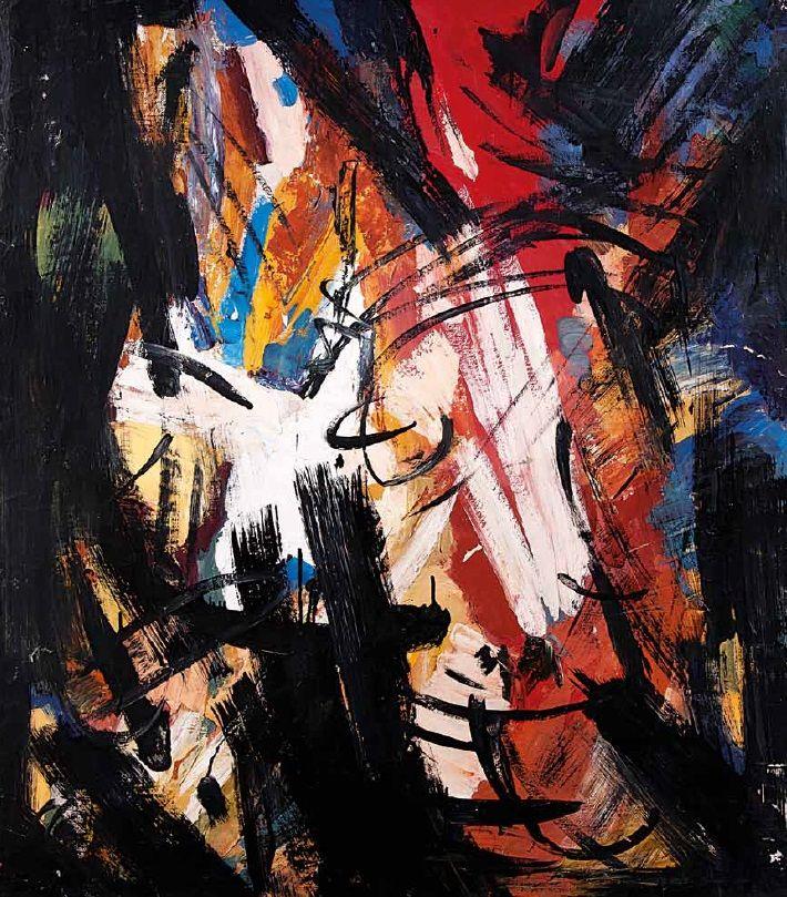 www.flyinginthewakeoflight.com  #art #contemporaryart #abstractart #painting #искусство #современноеискусство #живопись #графика #streetart #музей  Лев Кропивницкий Композиция, 1965 холст, масло: 104.5х91,5 Провенанс: аукцион Artcurial
