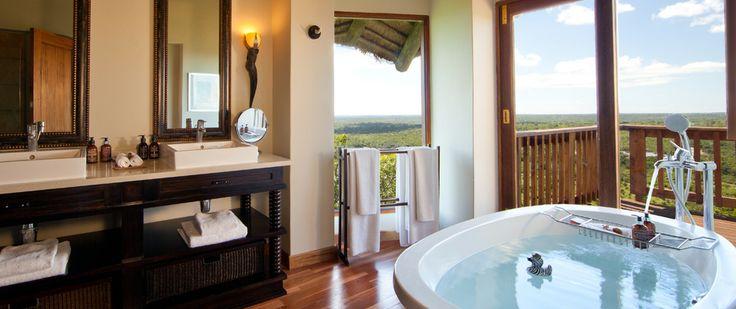 Bathroom at #Ulusaba Rock Lodge, Sabi Sands Private Game Reserve www.safari2africa.com