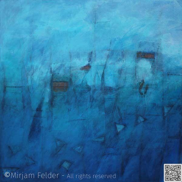 """mixed media on canvas, 36x36"""", 90x90 cm"""