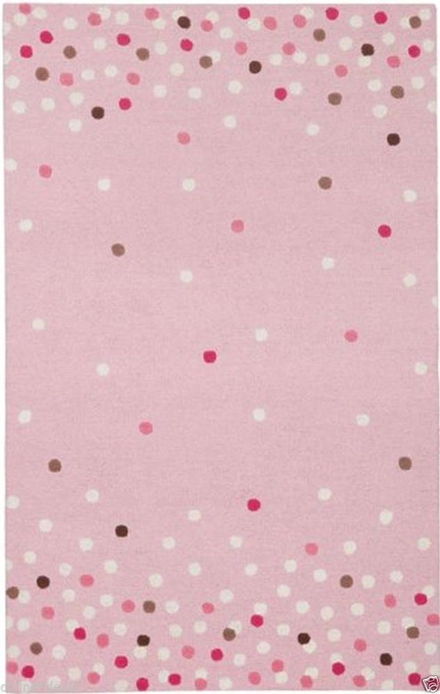 Pottery Barn Kids Confetti Pink Wool Rug 8 X 10 Make Me An