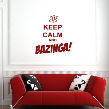 Keep calm and bazinga wall art quote stickers keep calm quotes wall quotes