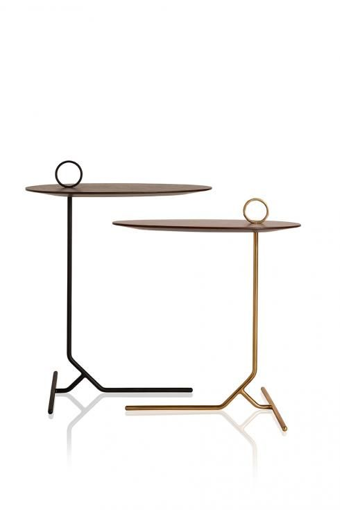 asti, unique, unusual table frame and Handel, great fun. Side table, metallic finish.