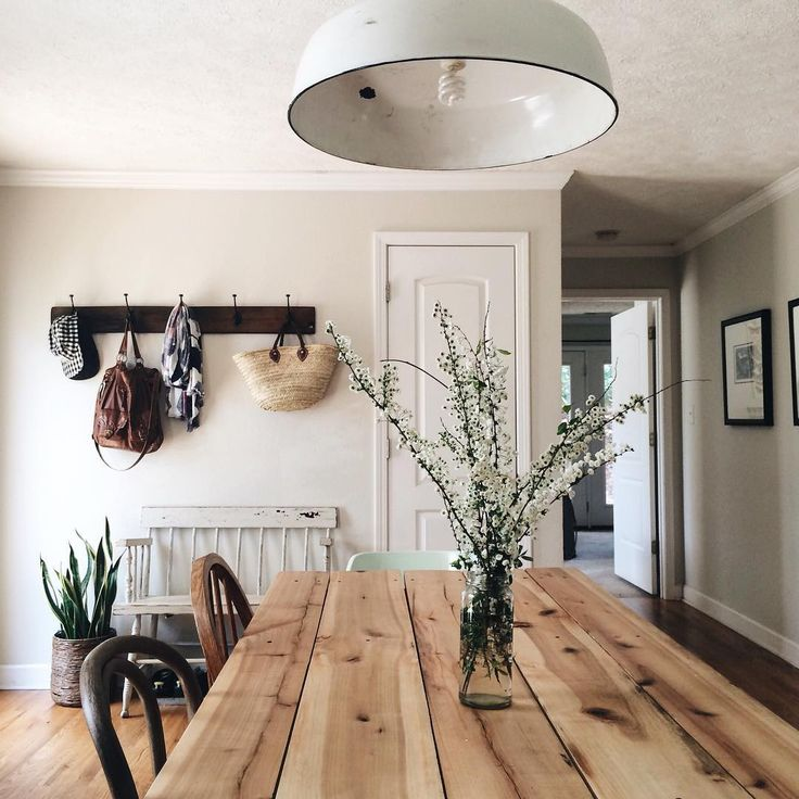 Love This Simple, Rustic Dining Room With Wooden Table, Clean Walls And Low  Key Decor. Part 96