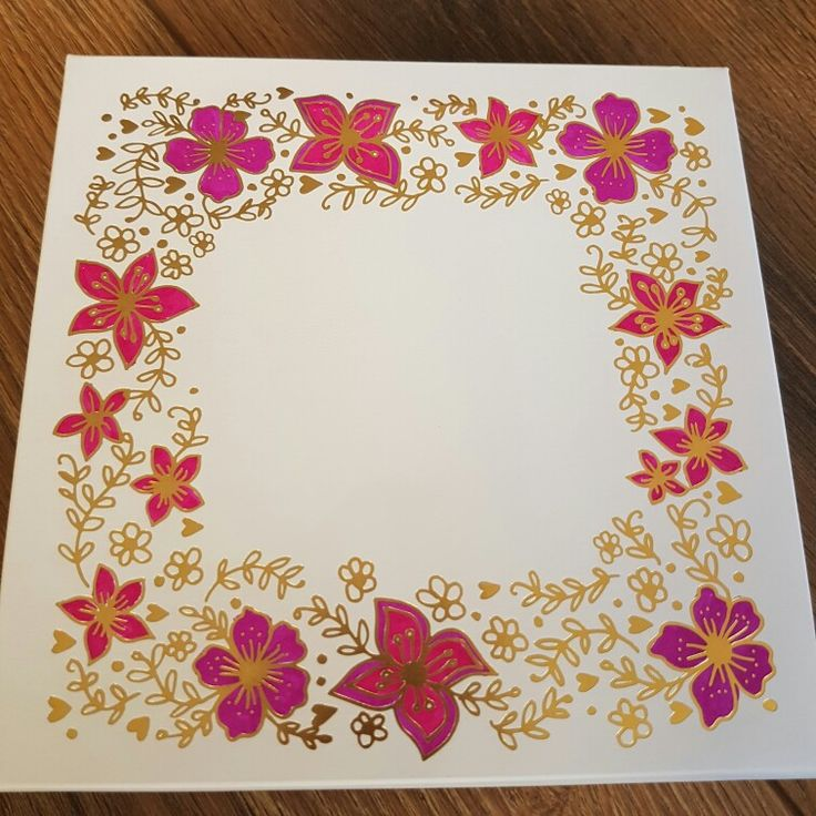 Craftwork Cards Foiled floral box coloured using watercolour pens by Mary Gillingham