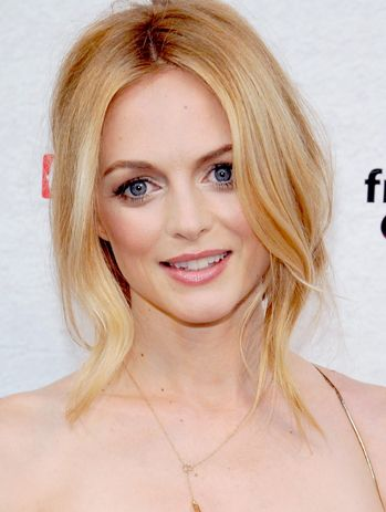 Strawberry blonde, Heather Graham style.