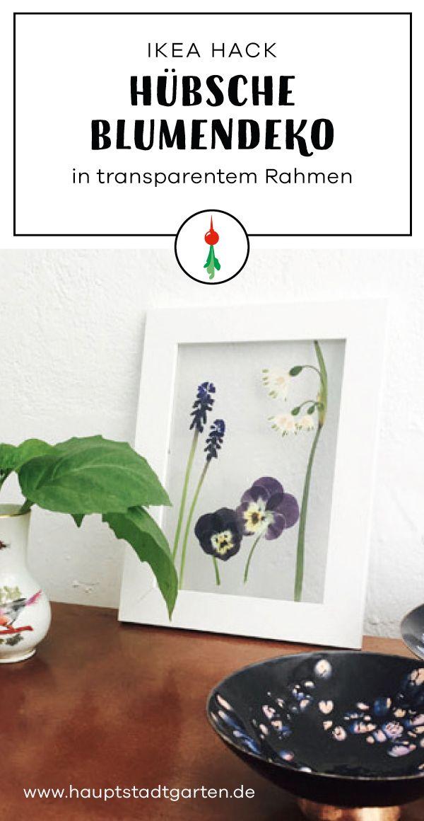 DIY Inspiration wie Du Dir eine hübsche Blumendeko selber machen kannst.