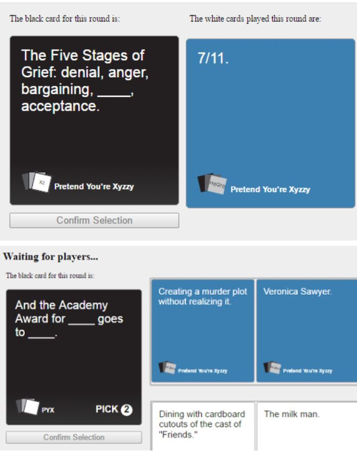 Cards Against Humanity: Heathers Style