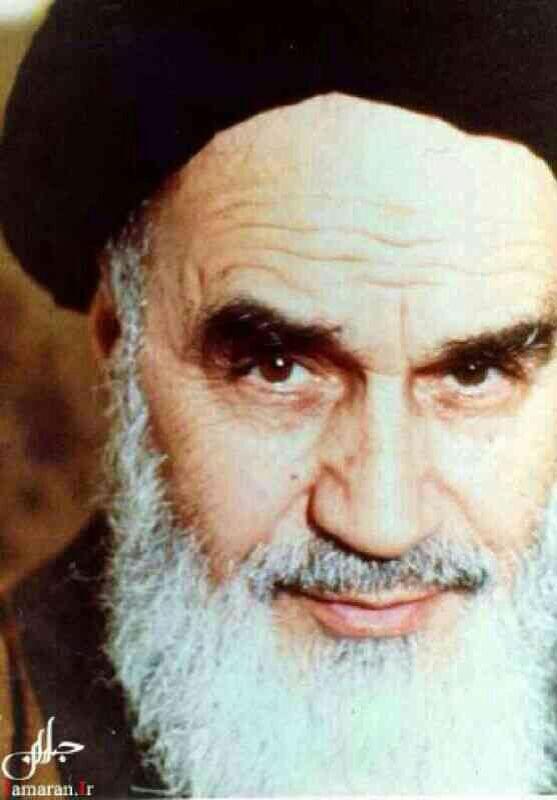 Imam Khomeini , first supreme leader of Iran.