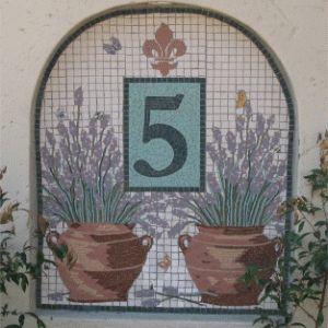 Number 5 ; Mosaic Mural ; unglazed porcelain ; completed 2005