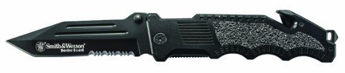 Smith & Wesson SWBG2TS Border Guard 2 Rescue Knife with 40% Serrated Tanto Blade, Glass Break, and Seatbelt Cutter, Black, http://www.amazon.com/dp/B0037F1B9E/ref=cm_sw_r_pi_awdm_YV7Oub1QYPE6P