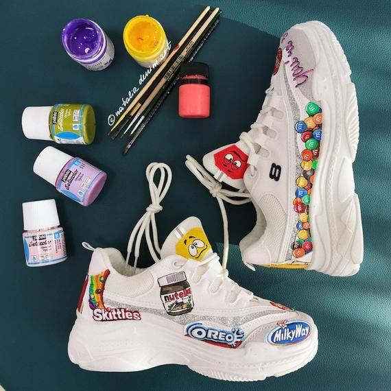 Punta de flecha Restricción intermitente  Custom painted Skechers sneakers/ nike air force 1 sneakers | Etsy in 2020  | Custom nike shoes, Sneakers, Painted shoes