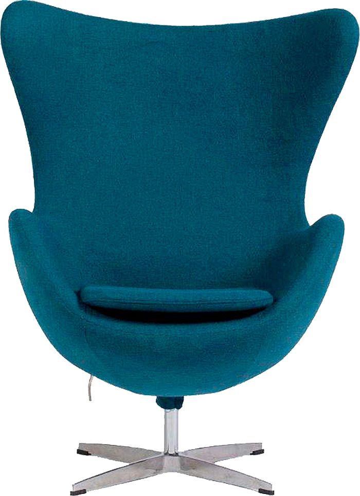 Кресло Egg, синее-голубое - Roomble.com