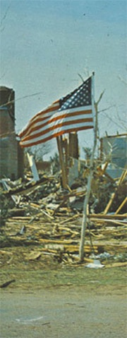 My home was Lubbock, Texas when the 1970 Lubbock tornado occurred on May 11, 1970. It was one of the worst tornadoes in Texas history.The tornado killed 26 people and injured more than 1500 along its 8.5 mile track, while covering about 15 square miles of Lubbock. It was the most recent F5 tornado to have struck a central business district of a large or mid-sized city, until the 2011 Joplin Tornado.