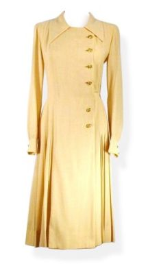 Chanel 1960 | 1960s Chanel Pleated Camel Vintage Dress