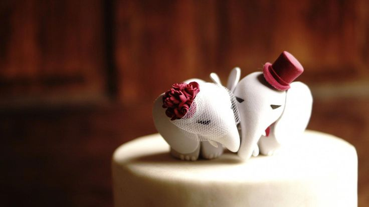 ELEPHANT Wedding Cake Topper Warranty Protection Included