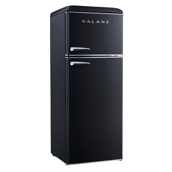 Galanz 76 cuft retro mini refrigerator with dual door