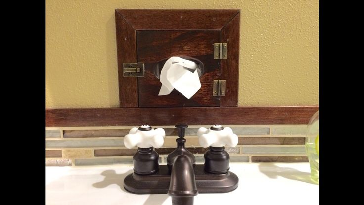 Industrial tissue box holder-- built right into the wall!