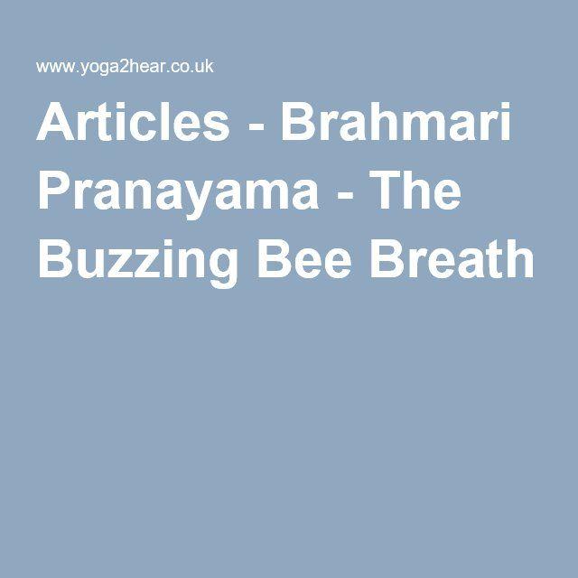 Articles - Brahmari Pranayama - The Buzzing Bee Breath