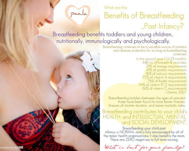 Benefits for full term breastfeeding. Sick of people asking when I will stop.