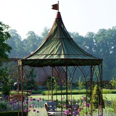 A Room in the Garden -Hexagonal gazebo
