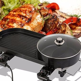 Buy 2-in-1 Smokeless Korean Hot-Pot Design Multi-Function Electric Griddle (Black) online at Lazada. Discount prices and promotional sale on all. Free Shipping.  Perfect for your Samgyeopsal party this weekend! Get it here ->https://goo.gl/Zzh41c