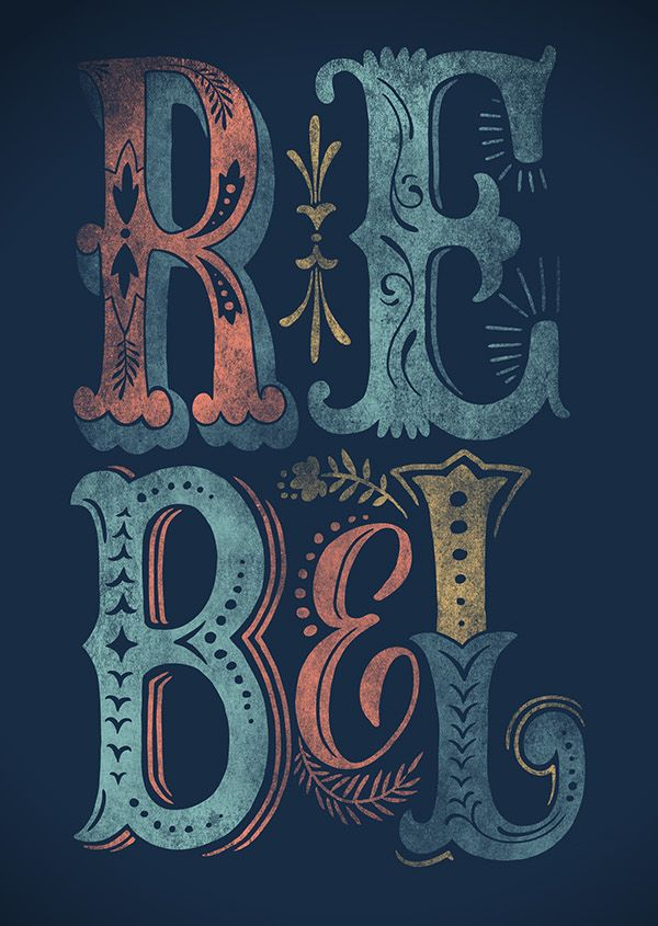 Pretty typography by Anna Kocova. Very nice indeed - we love it here at Kingfisherprint.co.uk