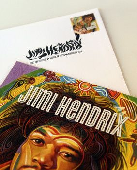 Honoring Jimi Hendrix's greatest hits and U.S. postage stamp