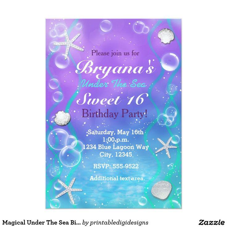 49 Best Mermaid Invitations Images On Pinterest 15 Years Babies