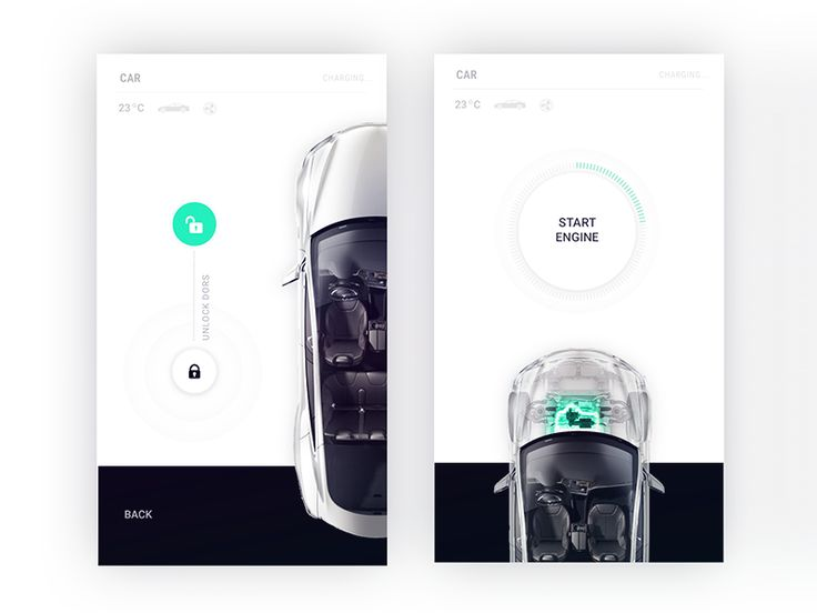 Tesla control center for Smart Home app by Fantasy by Gleb Kuznetsov #Design Popular #Dribbble #shots