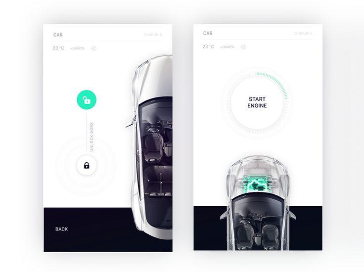 Tesla control center for Smart Home app by Fantasy by Gleb Kuznetsov✈ - Dribbble