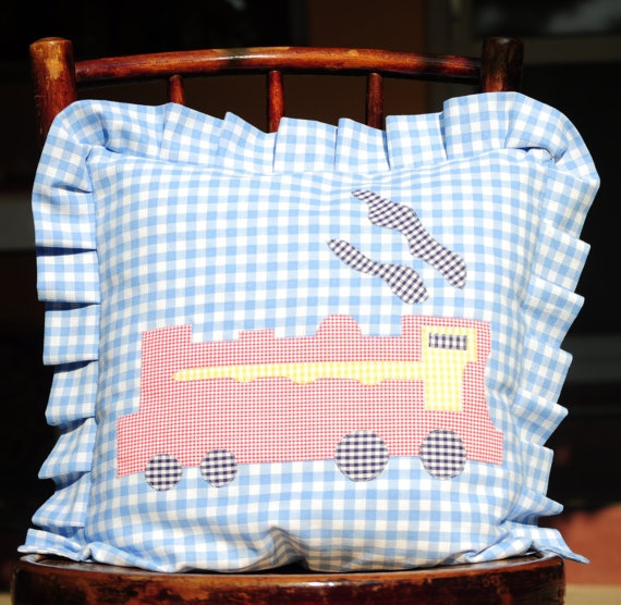 The locomotive pillow case for kids by AliCards on Etsy, $17.00