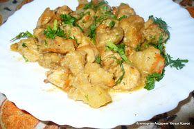Индейка с цветной капустой в сметане - блюдо легкое, полезное, вкусное. Готовится просто и быстро!