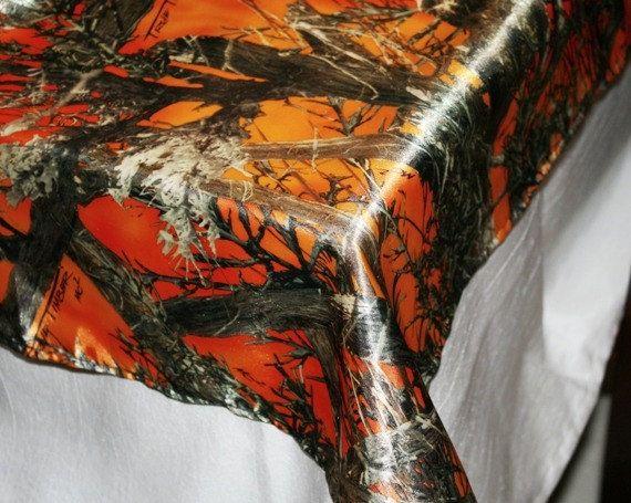 Orange Camouflage Table Cloth  Orange Camo Table by IDoDoodads, $29.99
