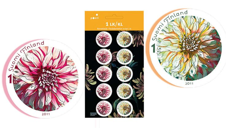 Dahlia Stamps, beautiful!