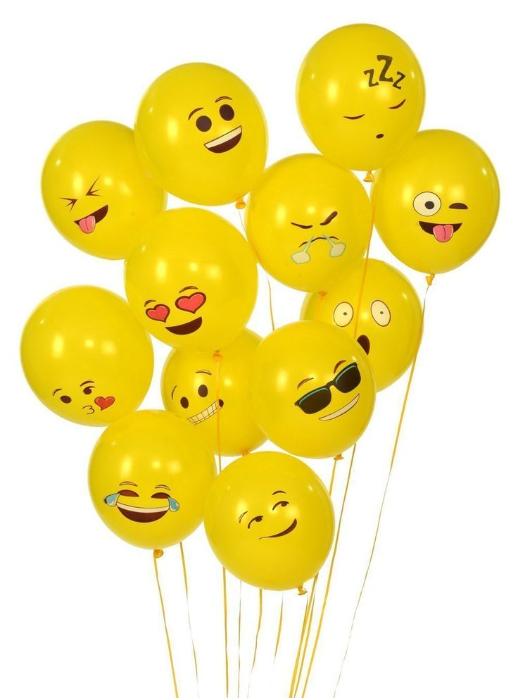 72 latex balloons yellow balloons birthday party for Decoration emoji