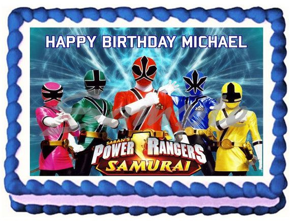 Power Rangers Birthday Cake Toppers