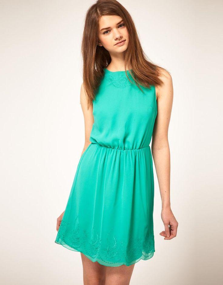 Vestido verde agua marina corto