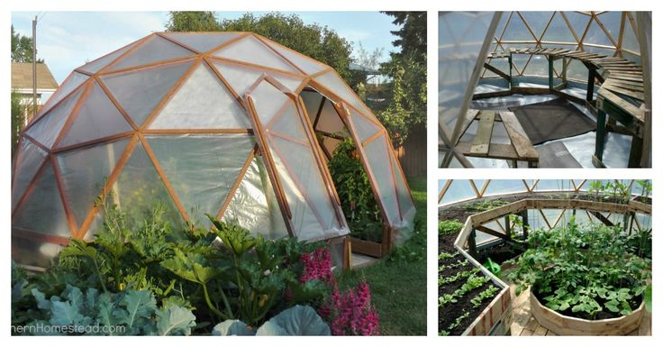 DIY Dome Greenhouse to Have Fresh Flower and Plants All Year Long