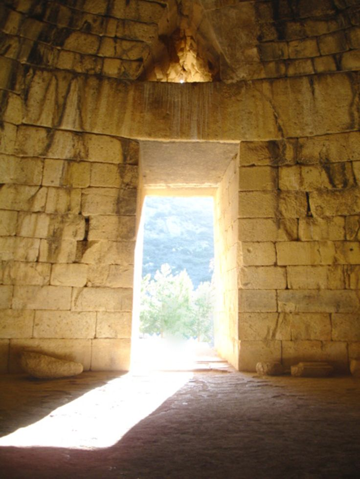 The view from the interior of the grave in Mycenae