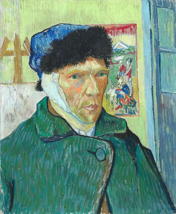 'Self-Portrait with Bandaged Ear' by Vincent van Gogh (1889)