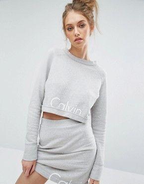 Calvin Klein Jeans Logo Cropped Co-ord Sweatshirt $102