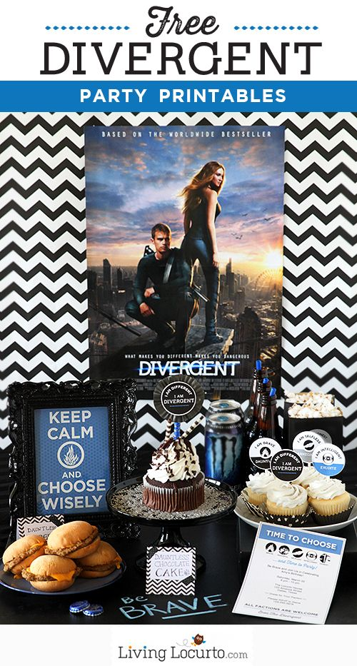 Divergent Party Ideas with Free Party Printables