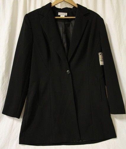 Worthington Blazer Coat Jacket Black Lined Size 14 Women's New MSRP $160 #WorthingtonIndustries #Blazer