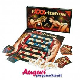 Gioco da tavolo Exxxcitation. Exxxcitation è un gioco erotico per una o più coppie. Vi farà provare tutta una serie di forti emozioni dove la sensualità e la sessualità vi porteranno all'apice del piacere. Lasciatevi guidare da una sequenza di illustrazioni che vi faranno scoprire le varie prove da superare.