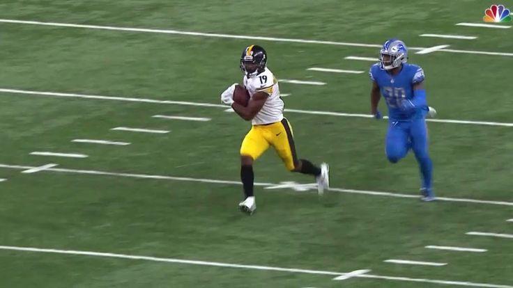 JuJu Smith-Schuster 97 Yard Touchdown | Steelers vs. Lions | NFL