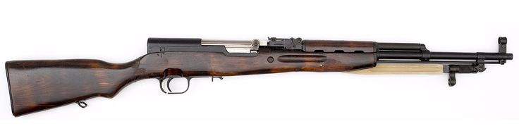 """**Russian Made SKS Semi-Auto 3/11/2015 - Firearms and Accoutrements: Live Salesroom Auction 7.63x39 caliber, 18"""" barrel, S/N 69819. Blue finish, laminated wood stocks"""