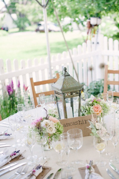 Rustic lanterns and centerpieces on pinterest