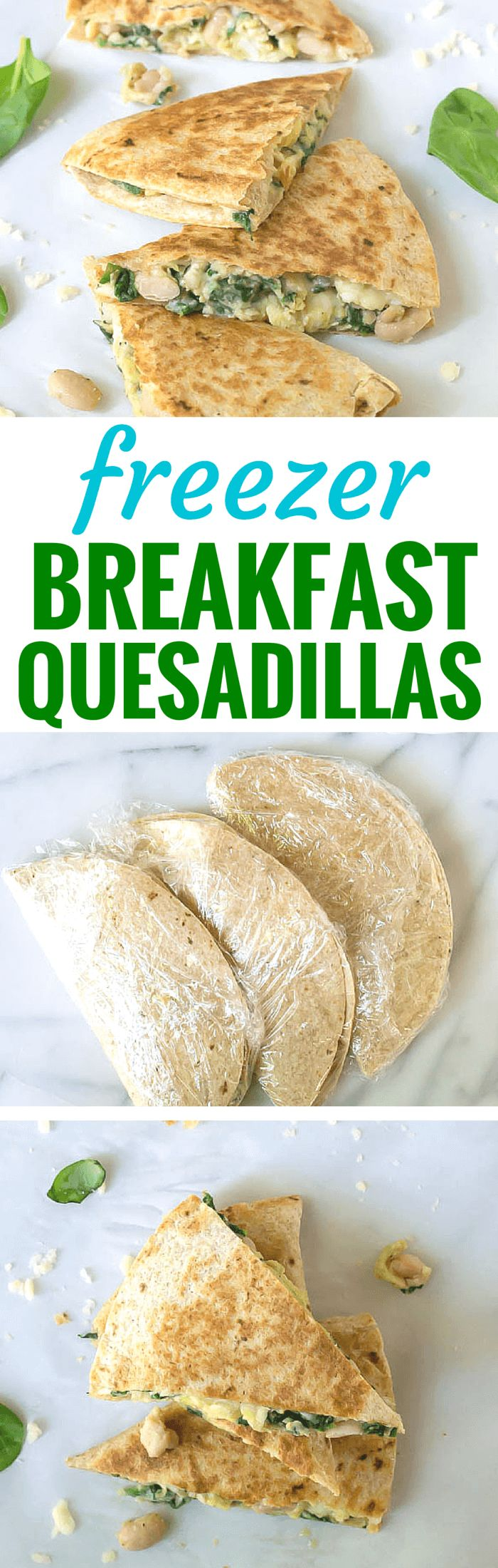 How to make and freeze breakfast quesadillas ahead so that you have a healthy…
