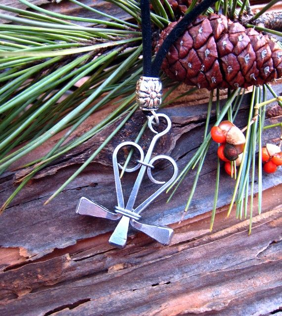 Gypsy, Equestrian Jewelry, Metal, Horseshoe Nail Pendant (HNP039S)